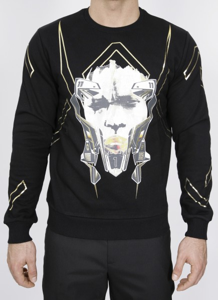 Tribal Lines Xhosa Mask Sweatshirt