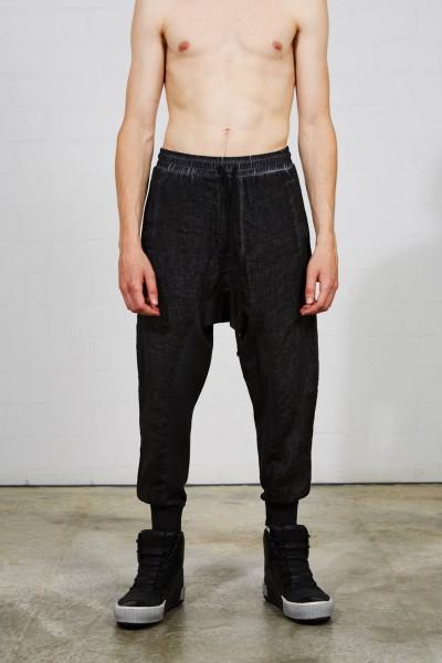 Thom Krom Drop Crotch Trousers Black Oil