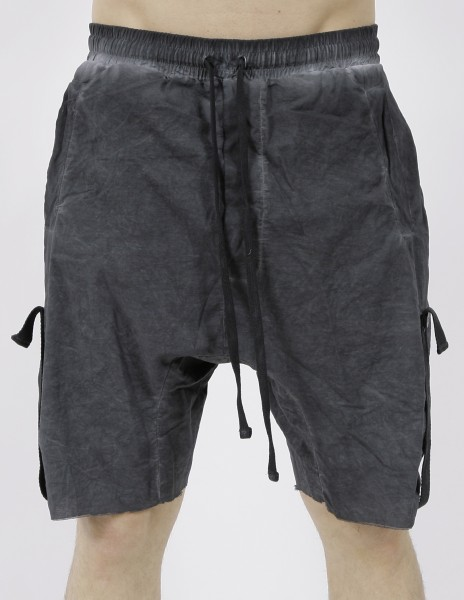 Thom Krom Black Oil Shorts