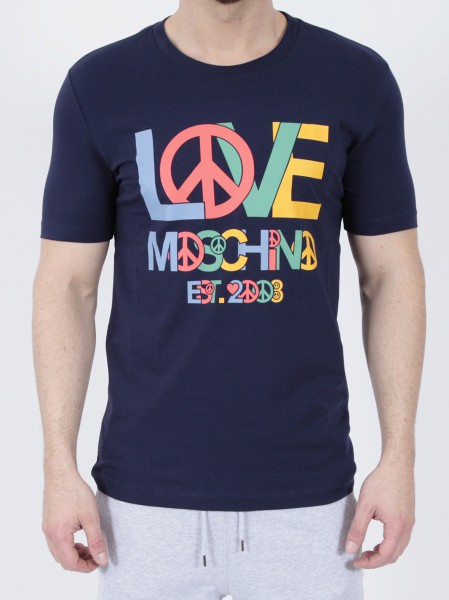 Love Moschino T-Shirt Love Blue