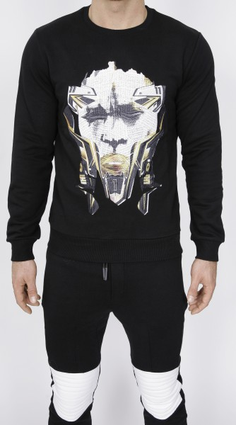 Xhosa Mask Emroidered Sweatshirt