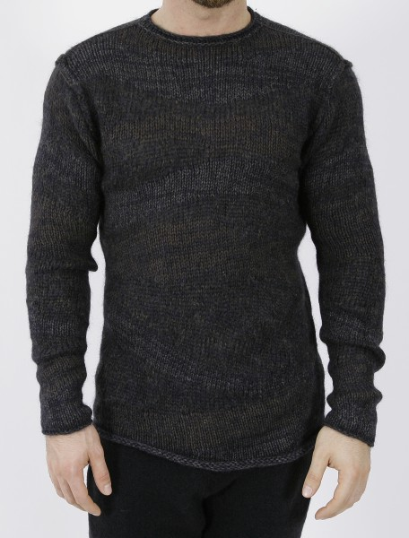 Isabel Benenato Knit Crew Neck Pullover