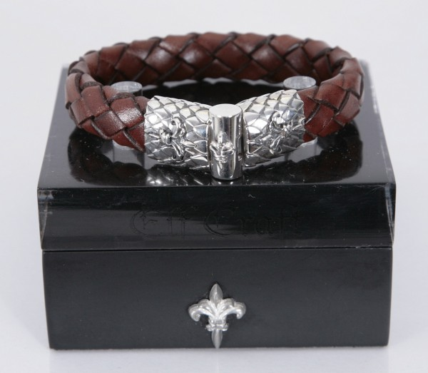 Elfcraft Armband Lilie Braun