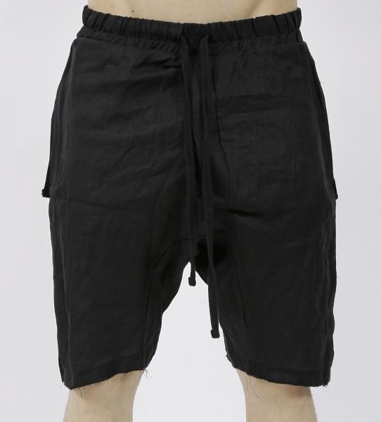 Thom Krom Black Linen Shorts