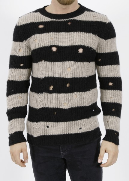 Overcome Stripes Destroyed Pullover