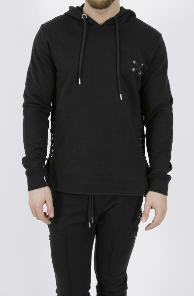 Les Hommes Hoodie with Laces