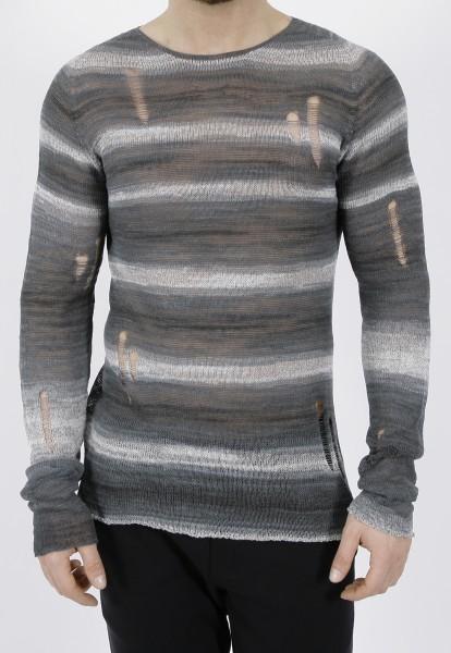 MD75 Destroyed Linen Pullover
