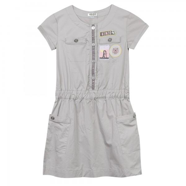 Kenzo Kids Jungle Dress grey