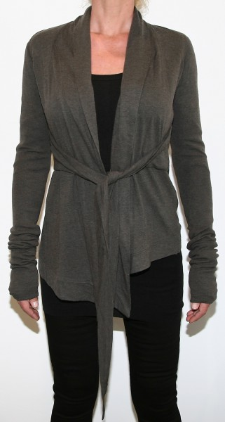 Rick Owens Lilies Tie Front Jacket