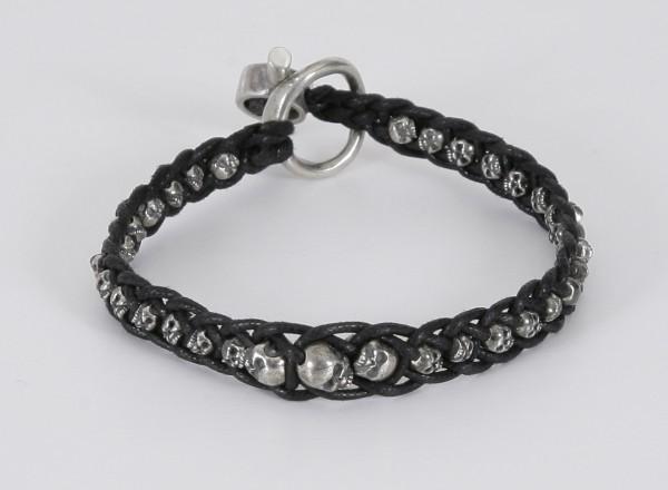Tobias Wistisen Single Skull Braid Bracelet
