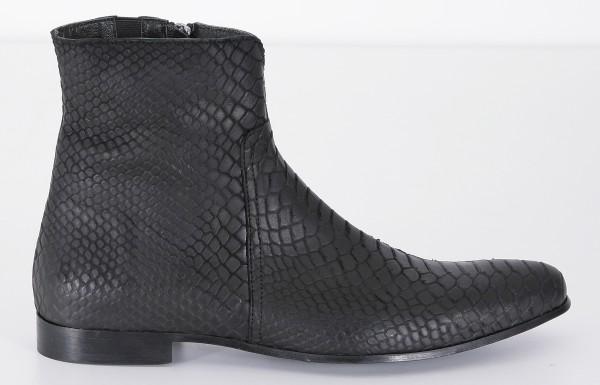 Cultum Black Snake Ankle Boot
