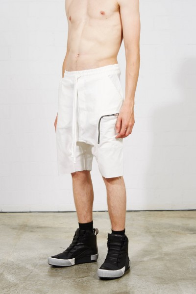 Thom Krom Drop Crotch Shorts Off White