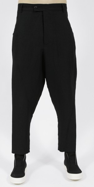 Nostra Santissima Linen Dropped Crotch Pants Black