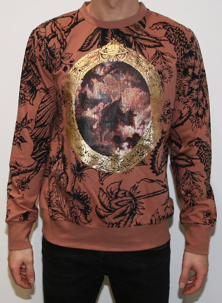 Vivienne Westwood Man Pink Cherub Frame Felpa Sweatshirt