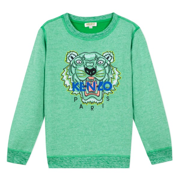 Kenzo Kids Tiger Sweatshirt menthol