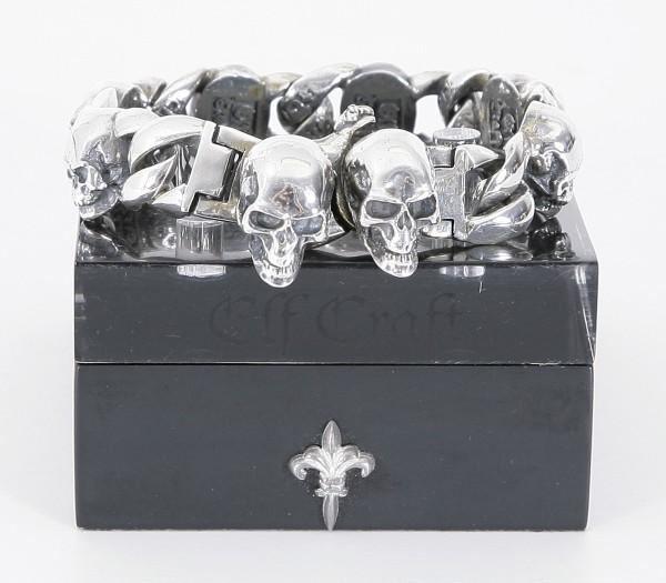 Elfcraft Silberarmband Skulls