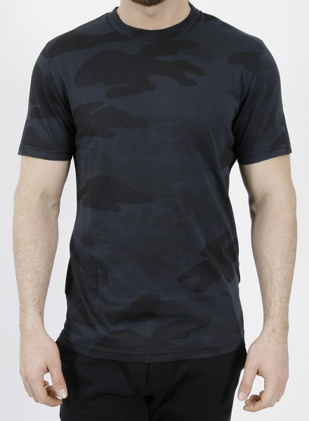 Hydrogen Camo Skull T-Shirt Black