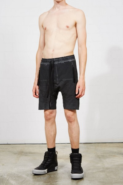 Thom Krom Drop Crotch Shorts Black Oil