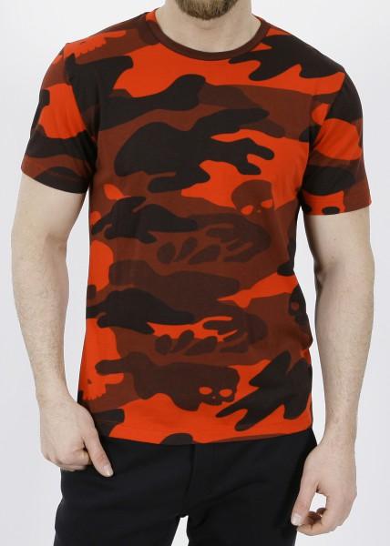 Hydrogen Camo Skull T-Shirt Red