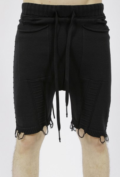 MD75 Knitted Shorts Black