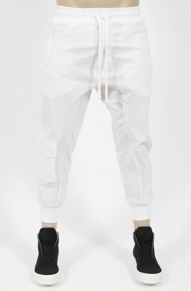 Thom Krom Drop Crotch Trousers Off White