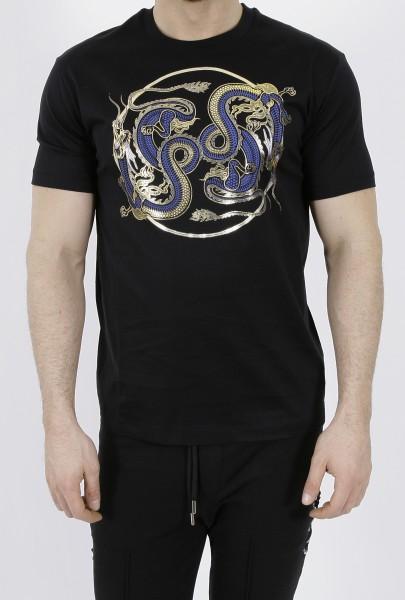 Les Hommes Hybrid Dragon T-Shirt