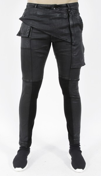 DRKSHDW by Rick Owens Memphis Black Wax Jeans