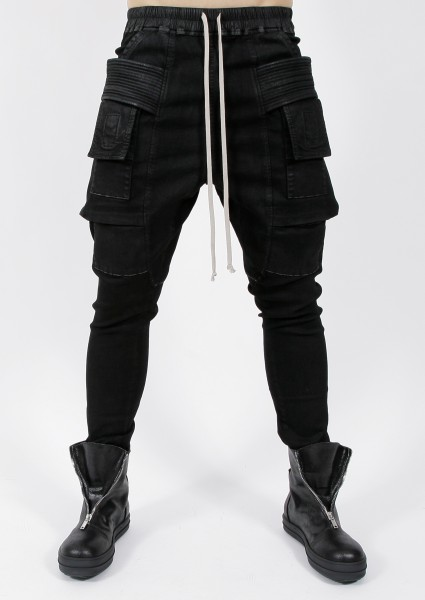 DRKSHDW by Rick Owens Creatch Cargo Drawstring Jeans