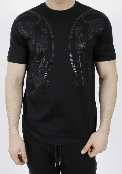 Les Hommes Legacy Dragon T-Shirt Black