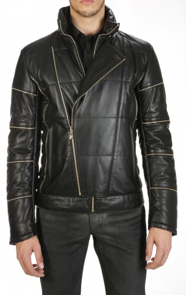 Versace Collection Rivets Leatherjacket