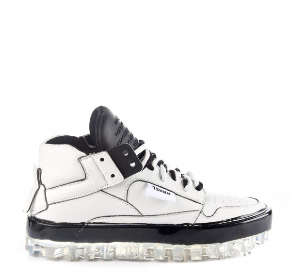 RBRSL Rubber Soul BOLD white leather trainers