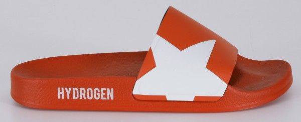 Hydrogen Badeschlappen Rot
