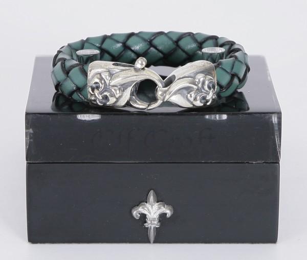 Elfcraft Armband Lilie Lobster Clew Türkis (Damen)