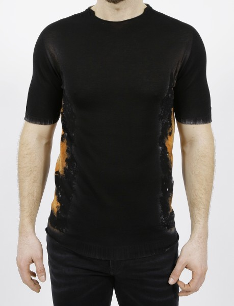 MD75 Knitted T-Shirt Nero