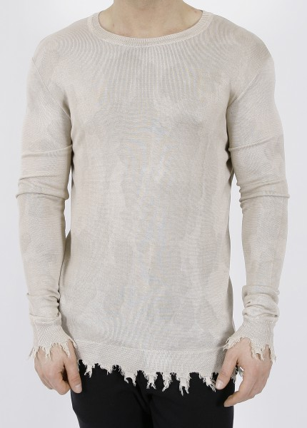 Overcome Destroyed Silk Pullover