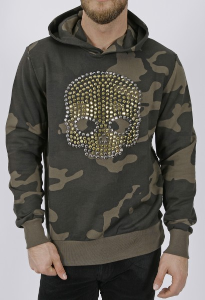 Hydrogen Studs Skull Camou Hoodie