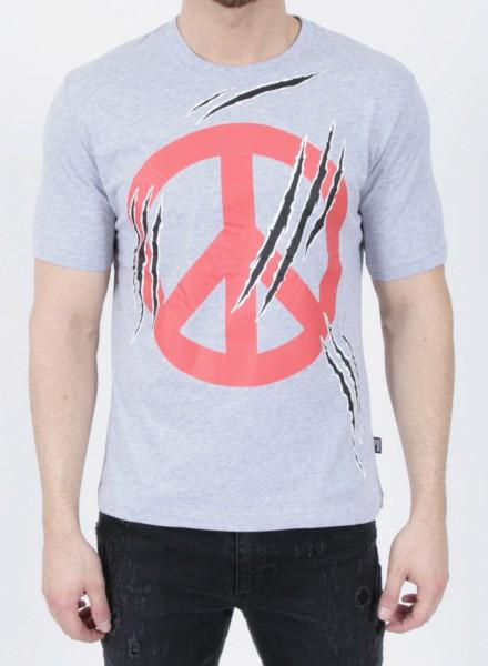 Love Moschino T-Shirt Peace Grey
