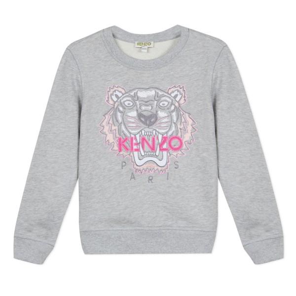 Kenzo Kids Tiger Sweatshirt Marl grey