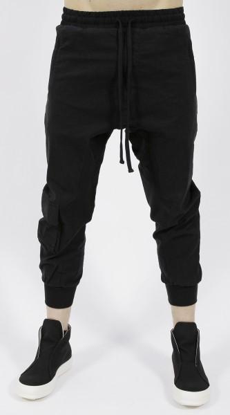 Thom Krom Drop Crotch Trousers Black
