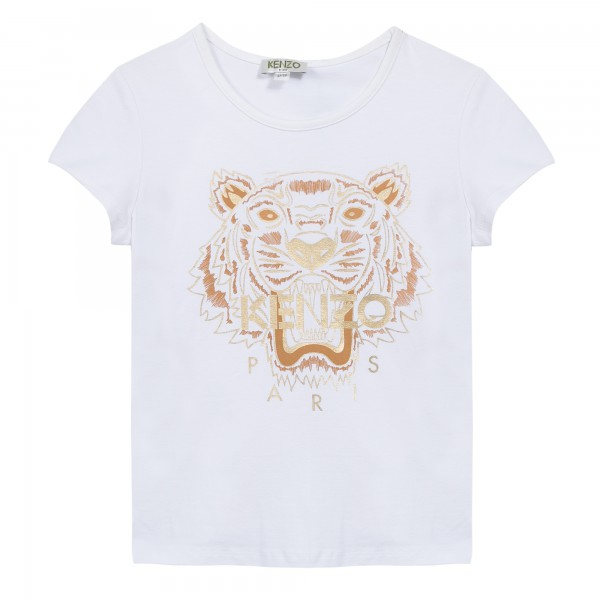Kenzo Kids Tiger T-Shirt white