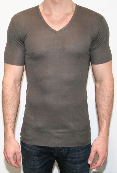 UNCONDITIONAL Ribbed T-Shirt Olive