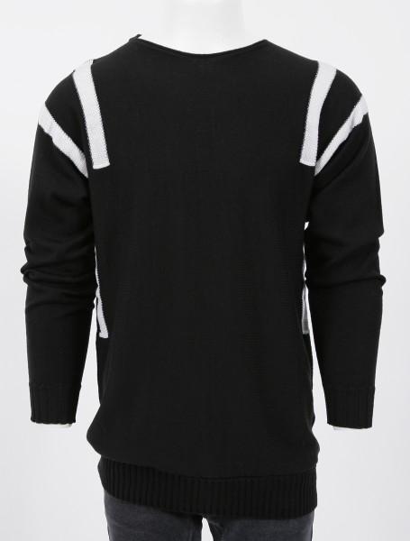 MD75 Pullover Black White Oversize