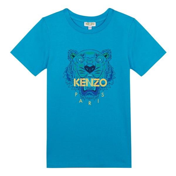 Kenzo Kids Tiger Shirt blue