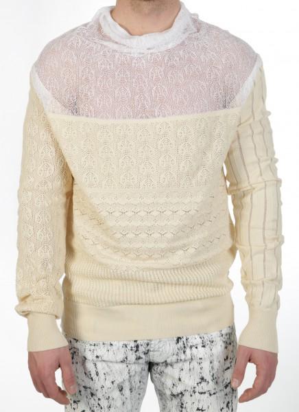 Vivienne Westwood Man Patchwork Lace Pullover