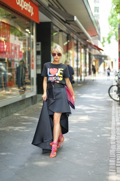 Elisabetta Franchi Black Vokuhila Skirt