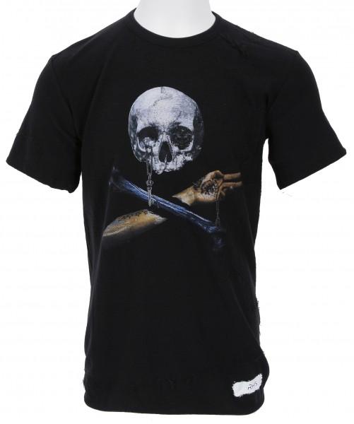 RH45 Knitted Skull T-Shirt Black
