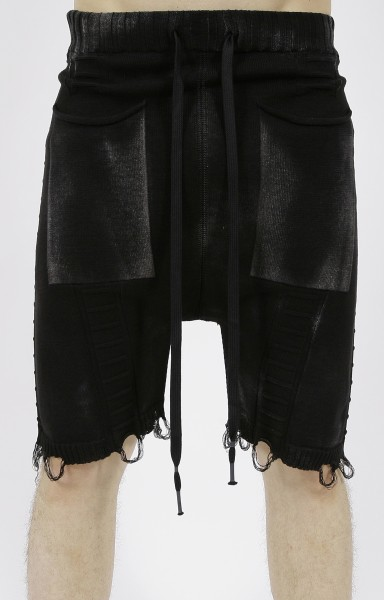 MD75 Knitted Shorts Black Sprayed