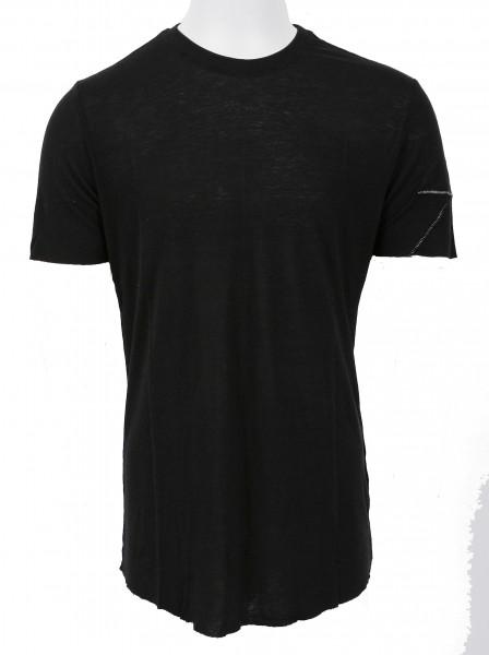 Thom Krom Leinen T- Shirt Black