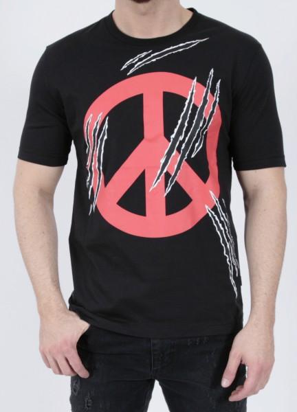 Love Moschino T-Shirt Peace Black