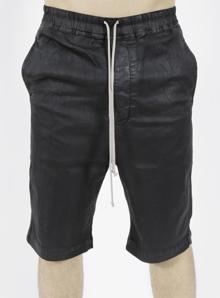 DRKSHDW by Rick Owens Astaire Black Wax Shorts